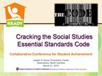Cracking the Social Studies  Essential Standards Code