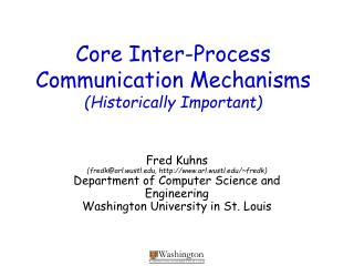 Core Inter-Process Communication Mechanisms Historically Important