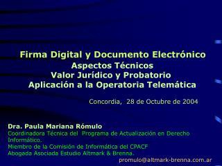 Firma Digital y Documento Electr nico