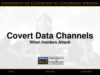 Covert Data Channels