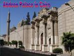 Abdeen Palace in Cairo