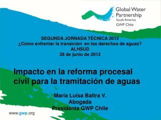 SEGUNDA JORNADA T CNICA 2012  C mo enfrentar la transici n  en los derechos de aguas ALHSUD 28 de junio de 2012  Impacto