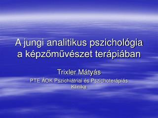 A jungi analitikus pszichol gia a k pzomuv szet ter pi ban
