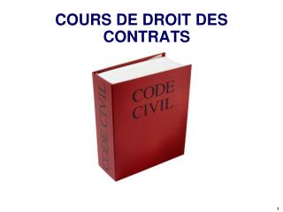 COURS DE DROIT DES CONTRATS