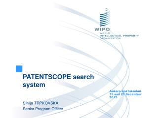 PATENTSCOPE search system