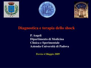 Diagnostica e terapia dello shock