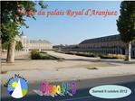 Visite du palais Royal d Aranjuez
