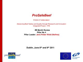 ProSafeBeef  FOOD-CT-2006-36241  Advancing Beef Safety and Quality through Research and Innovation  Integrated Project :