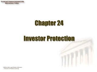 Chapter 24  Investor Protection