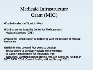 Medicaid Infrastructure Grant MIG