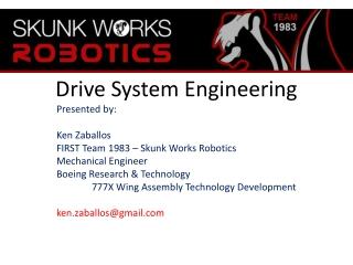 F.I.R.S.T. Motors  Drive System Design