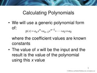 Calculating Polynomials