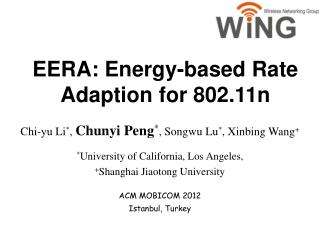 EERA: Energy-based Rate Adaption for 802.11n