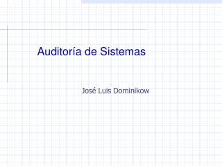 Auditor a de Sistemas