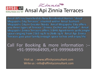 Ansal Api Zinnia Terraces Greater Noida