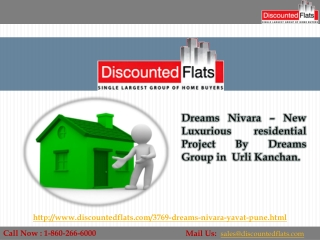 Buy 1 & 2BHK flats in Urli Kanchan - Dreams Nivara