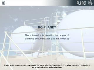 Planet GmbH  Kammerst ck 23  D-44357 Dortmund  Tel. 49 0231