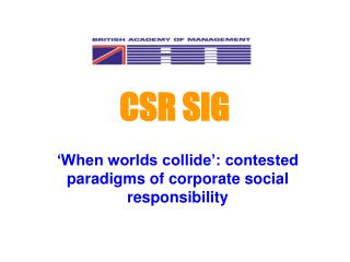 CSR SIG