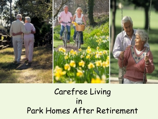 Carefree Living in Park homes