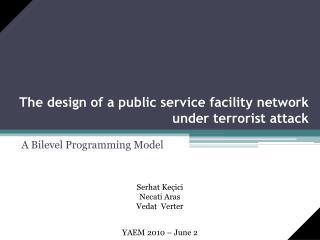 The design of a public service facility network under terrorist attack