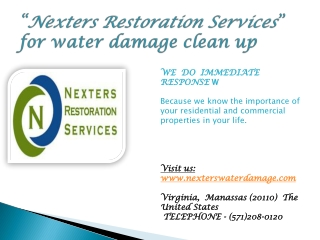 Nexters Restoration Services:Water damage clean up Virginia