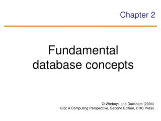Fundamental database concepts