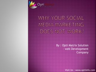 Why Your Social Media Marketing Does Not Work