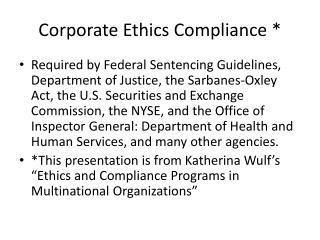 Ethics Compliance