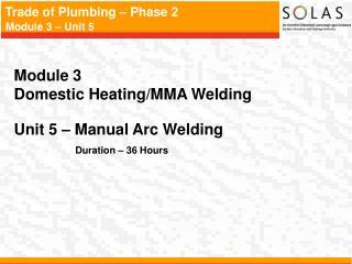 Module 3   Domestic Heating