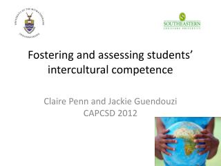 Fostering and assessing students  intercultural competence
