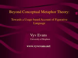 Beyond Conceptual Metaphor Theory:   Towards a Usage-based Account of Figurative Language
