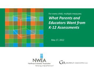 For every child, multiple measures  What Parents and Educators Want from  K-12 Assessments