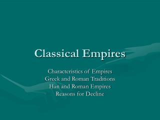 Classical Empires