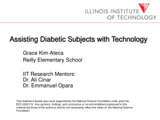 Assisting Diabetic Subjects with Technology