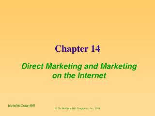 Direct Marketing and Marketing on the Internet