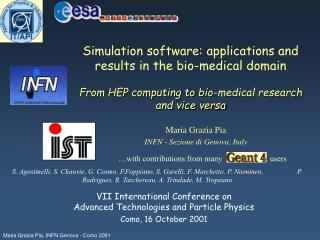 Simulation software: applications and results in the bio-medical domain  From HEP computing to bio-medical research  and
