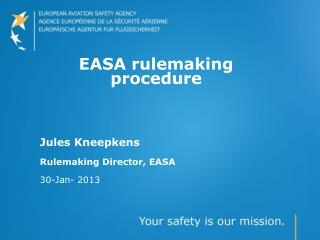 EASA rulemaking procedure