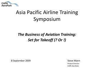 Asia Pacific Airline Training Symposium