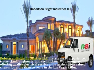 Robertson Bright  Providing Commercial and Residential Elect