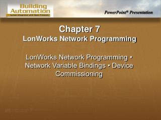 LonWorks Network Programming