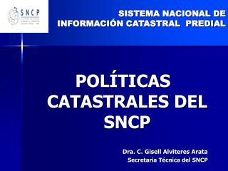 SISTEMA NACIONAL DE INFORMACI N CATASTRAL  PREDIAL