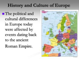 History and Culture of Europe