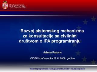 Sektor za programiranje i upravljanje fondovima EU i razvojnom pomoci