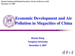 Economic Development and Air Pollution in Megacities of China