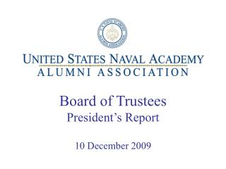 Board of Trustees President s Report  10 December 2009