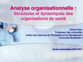 Analyse organisationnelle : Structures et dynamiques des organisations de sant
