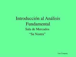 Introducci n al An lisis Fundamental
