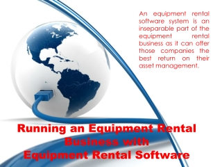 Running an Equipment Rental Business with Equipment Rental S