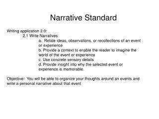 Narrative Standard