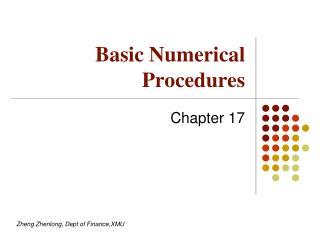 Basic Numerical Procedures